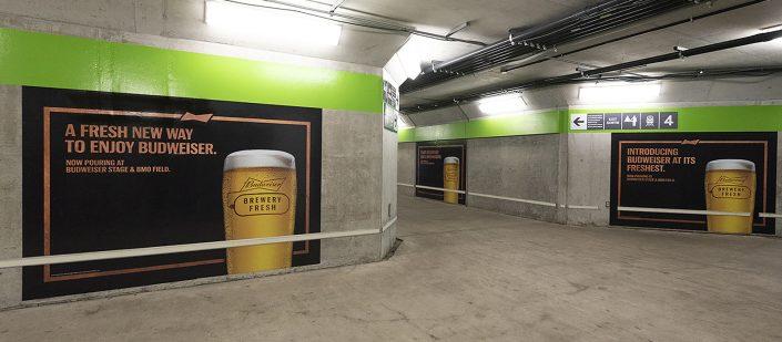 IMA Go Transit station murals of Budweiser